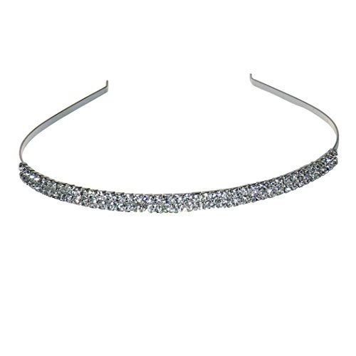Coddsmz Women's Wedding Crystal Bridal Crown Headband Tiara Headdress