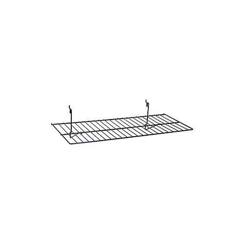 Pack of 10 New Black Flat Shelf 23-1/2''w X 12''d Fits Slatwall/ Grid/pegboard