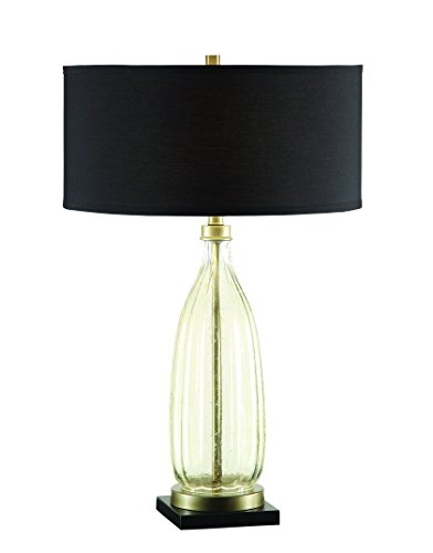 Coaster Company of America 901653 Table Lamp - Dimensions: 19.5W x 19.5D x 32H in. Base constructed out of glass Speckled finish - lamps, bedroom-decor, bedroom - 31Xhq6VmeeL -