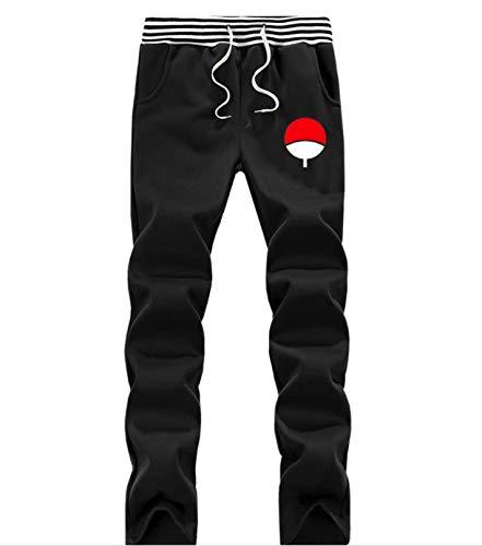 Sasuke Leaf Village - OTuOU Men Anime Naruto Print Sweat Fleece Jogger Uzumaki Naruto Uchiha Sasuke Pant
