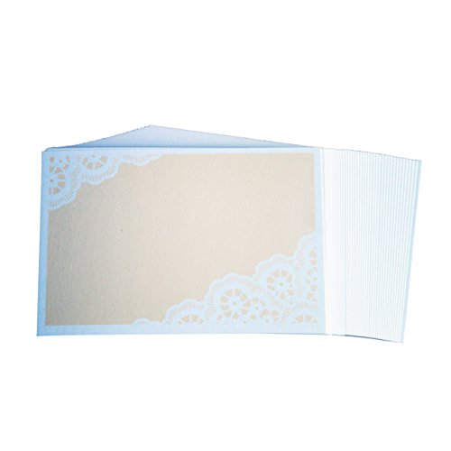 WISHMADE 50 Count Blank RSVP Cards Beige