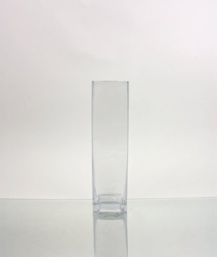 WGVI Clear Square Block Glass Vase/Candle Holder - 3