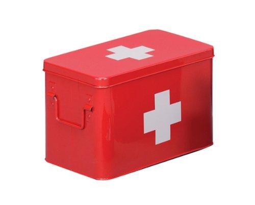 Zeller 18116 Medizin-Box, Metall, rot, L  32x19,5x20