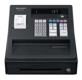 Sharp Cash Register 200 PLUs 7 Lines//sec Black Ref XE-A137BK