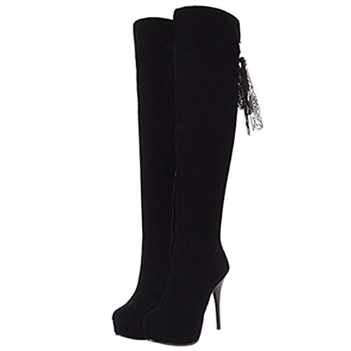 Boots Black Women Thigh Sjjh High vxwqBwPaF