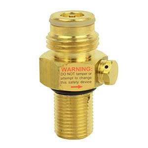Interstate Pneumatics WRCO2-PV Brass Pin Valve for CO2 Paintball Tank by Interstate Pneumatics