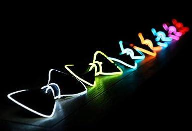 Halsumfang Verstellbar Yoofa Beauty Leuchtende LED Fliege Fliege Schleife Leuchtend Bow Tie f/ür Halloween Weihnachten Silvester Rave Party