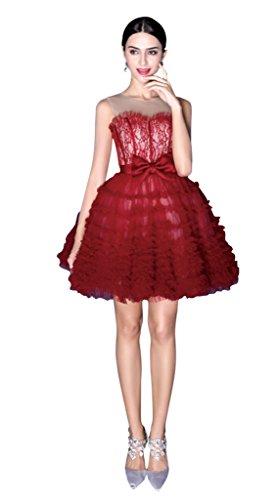 Vimans - Robe - Trapèze - Femme Rouge Rouge