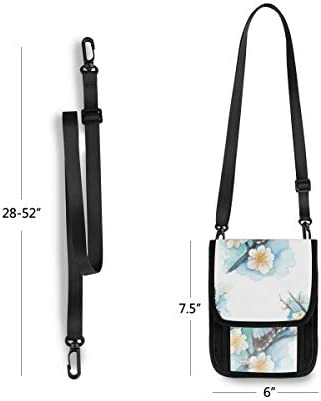 トラベルウォレット ミニ ネックポーチトラベルポーチ ポータブル 青い蝶 小さな財布 斜めのパッケージ 首ひも調節可能 ネックポーチ スキミング防止 男女兼用 トラベルポーチ カードケース