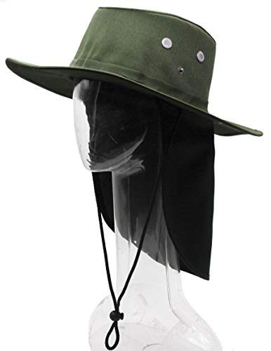 RufnTop Bora Booney Sun Hat for Outdoor Hiking, Safari, Camping, Hunting, Garden Wide Brim Cap with UPF 50+ Protection(Solid Olive -