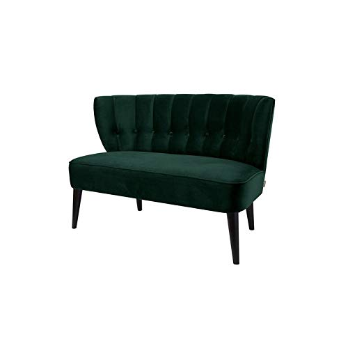 Brika Home Button Tufted Settee in Hunter Green (Settee Hunter)