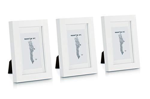 Classic by Casa Chic Marcos de Fotos 10 x 15 cm - Paquete de 3 Marcos