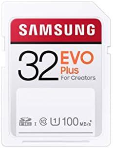 SAMSUNG EVO Plus SDHC Full Size SD Card 32GB (MB SC32H) (MB-SC32H/AM)