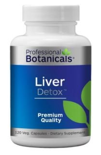 Professional Botanicals Liver Detox Cleanse and Support 120 Veg Capsules