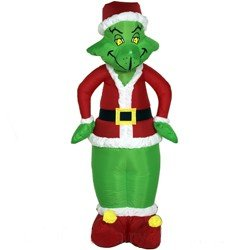 gemmy 4 how the grinch stole christmas outdoor inflatable grinch in santa suit