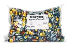 Toxic Waste Hazardously Sour Candy 1000 Count Bulk Mega Bag by TOXIC WASTE