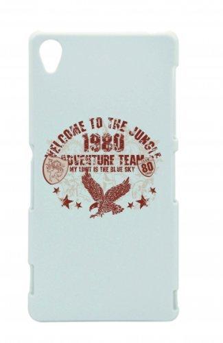 "Smartphone Case Apple IPhone 6/ 6S ""welcome to the jungle 1980 adventure team my limit is the blue sky Music Rock n Roll Rocker Bike Auto Reise Travel Palmen 80er 90er"" Spass- Kult- Motiv Geschenkidee"