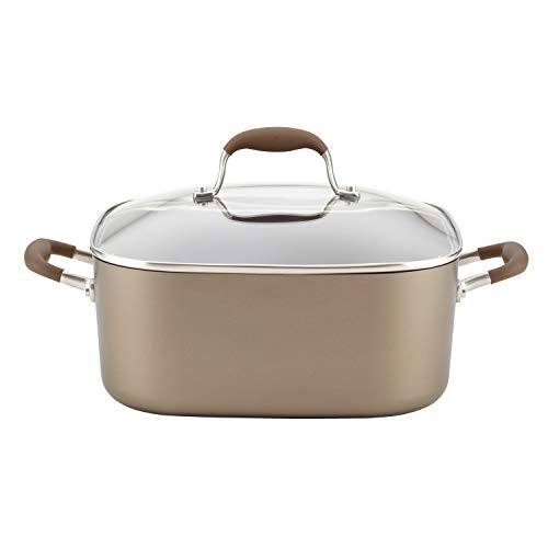 Anolon 83867 7-Qt. Covered Square Dutch Oven Hard Anodized A