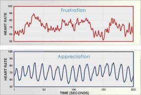 HeartMath Frustration versus Appreciation Graph.