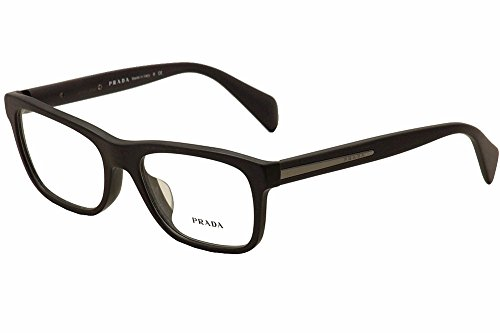 Pv Rim (Prada Eyeglasses VPR 19PV 19/PV TV4-101 Brushed Grey Full Rim Optical Frame 55mm)