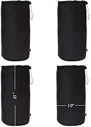 Augbunny Durable Drawstring Water Resistant Dust Flap Stuff Sack Bag 4-Pack