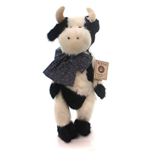 Boyds Bears Plush CLARABELLE MOO Fabric Black White Cow Jointed 553155