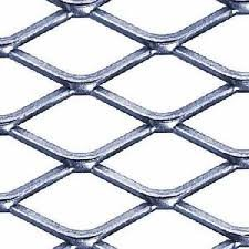 3/4'' #9 304 Stainless Steel Expanded Sheet/Mesh, 24'' x 24'' x .100'' by Shapiro Supply