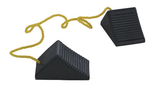 Vestil-RWC-2-PR-Rubber-Wheel-Chock-with-Rope-5-Width-4-Height-8-Depth