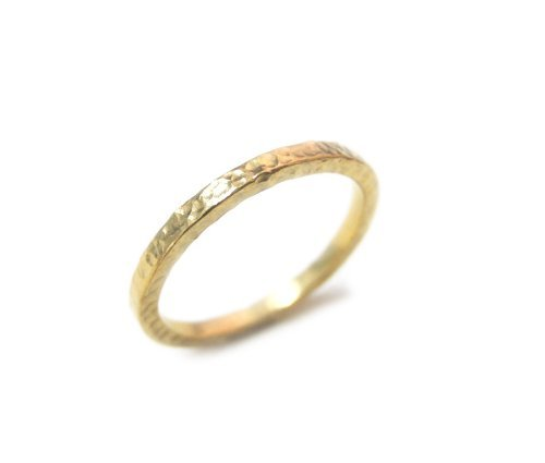 ZilverPassion Sterling Silver 1.5mm Hammered Band Stackable Ring, Polished Finish (Size 2-15) Silver, Gold Plated, Rose Gold Plated, Oxidized