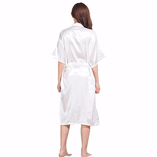 Robe FY Regalo Massager Sleepwear Vestaglie Kimono Sauna Notte Pigiama Partito Accappatoio Nightwear Camicie Seta Lunghe Matrimonio Donne Imitazione Bianco Spa Bathrobe Da waraR4qEn
