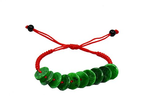 "Rolling in Money Elegant Green Jade Bracelet, 6-10"" Jade beads 12 mm-- Feng Shui Jewelry"