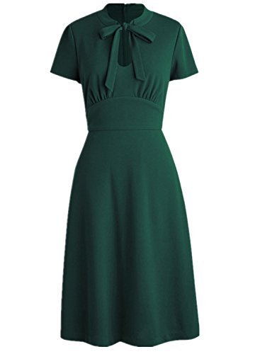 Wellwits Womens Keyhole Vintage Collared