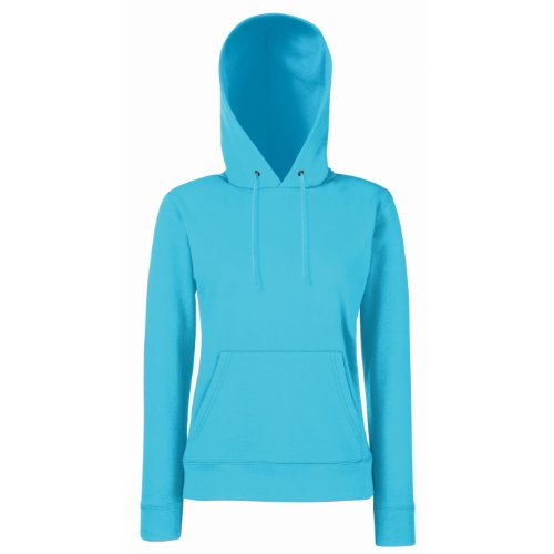 Lady-Fit Hooded Sweat - Farbe: Azure Blue - Größe: M
