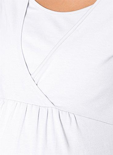 Donne Shirt T Maglietta Bianco Allattamento Maternity Manica AILIENT delle Magliette Nursing Breastfeeding Premaman Camicetta Corta Infermieristica Casuale Bluse Top Estate Parti xnOpnA