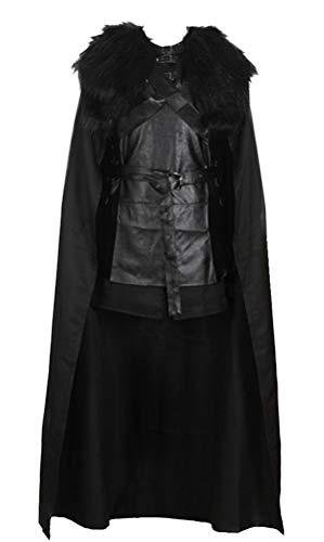 Star Wars Costumes Canada (Halloween Costume Adult Men, Hero Cosplay Battle Uniform Full Set Cloak Black)