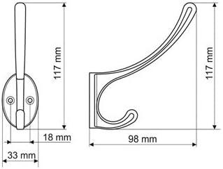 Gamet Kleiderhaken Huthaken Mantelhaken aus Metall Messing poliert