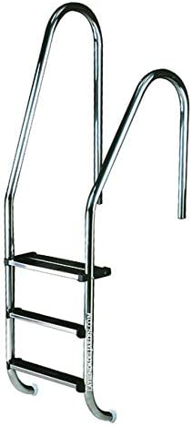 Suinga Escalera para Piscina con peldaño de Seguridad, Modelo a Elegir (2 peldaños + 1 peldaño de Seguridad)