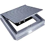 Acudor Aluminum Floor Door-Channel Frame With Drain, 36x36