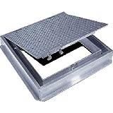 Acudor Aluminum Floor Door-Channel Frame With Drain, 36x36