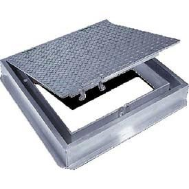 Acudor Aluminum Floor Door-Channel Frame With Drain, 30x30 by Acudor