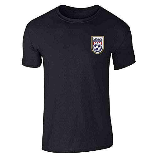 USA Soccer Retro National Team Jersey Black 4XL Short Sleeve T-Shirt
