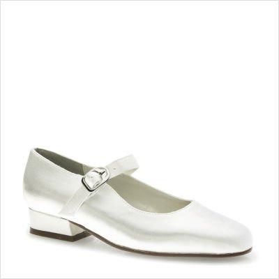 Touch Ups Girls' Sabrina Dress Shoes,White Satin,13 M ()