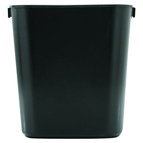 Rubbermaid Commercial Products FG295500BLA Plastic Resin Deskside Wastebasket, 3.5 Gallon/13 Quart, Black