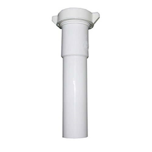 - LASCO 03-4325 White Plastic Tubular 1-1/2-Inch by 12-Inch Slip Joint Extension with Nut and Washer
