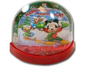 Licensed Disney Mini Lenticular Plastic Snowglobe (Flat Back) (Mickey Mouse)