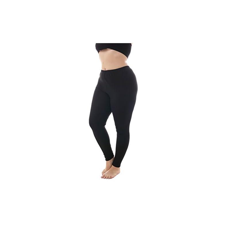 3c244e2fb0c1b ZERDOCEAN Women's Plus Size Extral Long Full Length Cotton Stetchy Leggings  for Fall