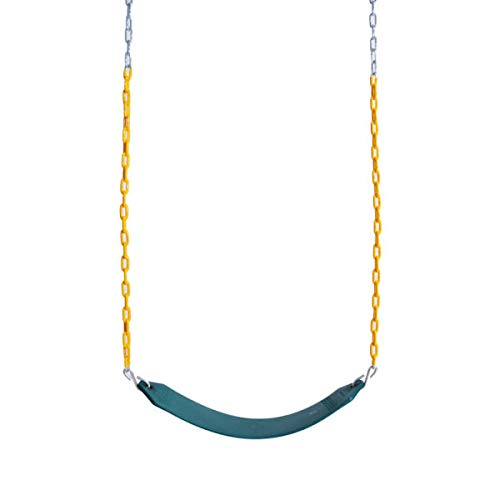 Abeaco Heavy Duty Playground Trapeze Bar with Rings Extra Long 38 Inch Chain Swing Set (Swing) by Abeaco