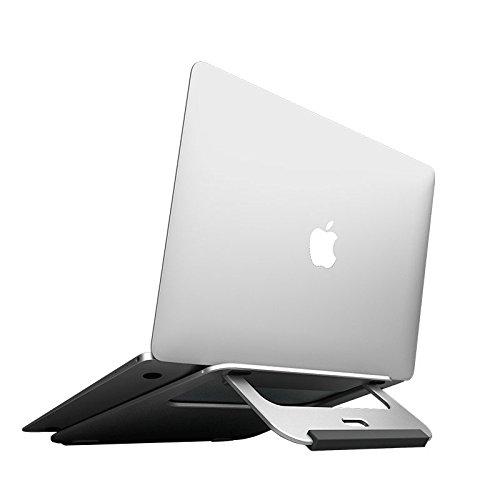 Hulorry Laptop Cooling Stand, Portable Macbook PC Holder Lightweight Steady Aluminum Laptop Riser Portable Laptop Table Home & Work | Improve Posture Desktop Stand Laptops