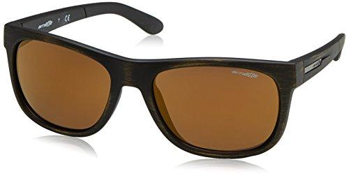 Arnette Men's Fire Drill Lite Non-Polarized Iridium Square Sunglasses, Matte Goldy Black, 57 - Fire Arnette Drill
