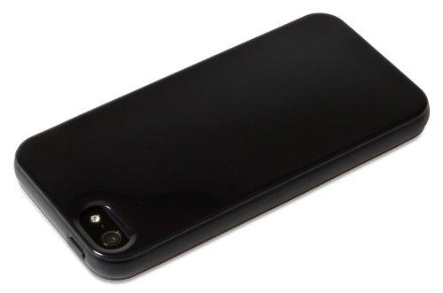 iCandy ICD2518 Silikone Case für Apple iPhone 5 schwarz
